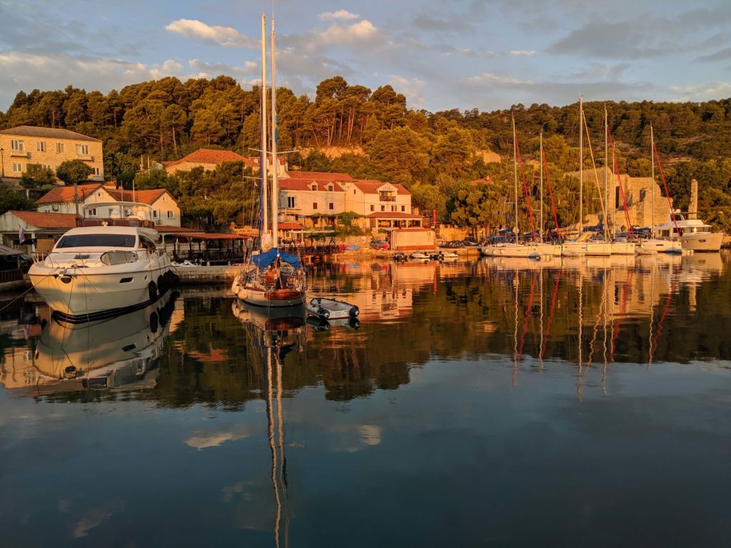 Sea Rose on the dock in Polace on Otok Mljet, Croatia - Mljet National Park